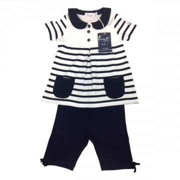 Girl striped Outfit set