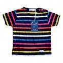 Children striped breton Multico navy (short sleeves)