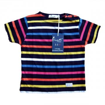 Children striped breton Multico navy (short sleeves)