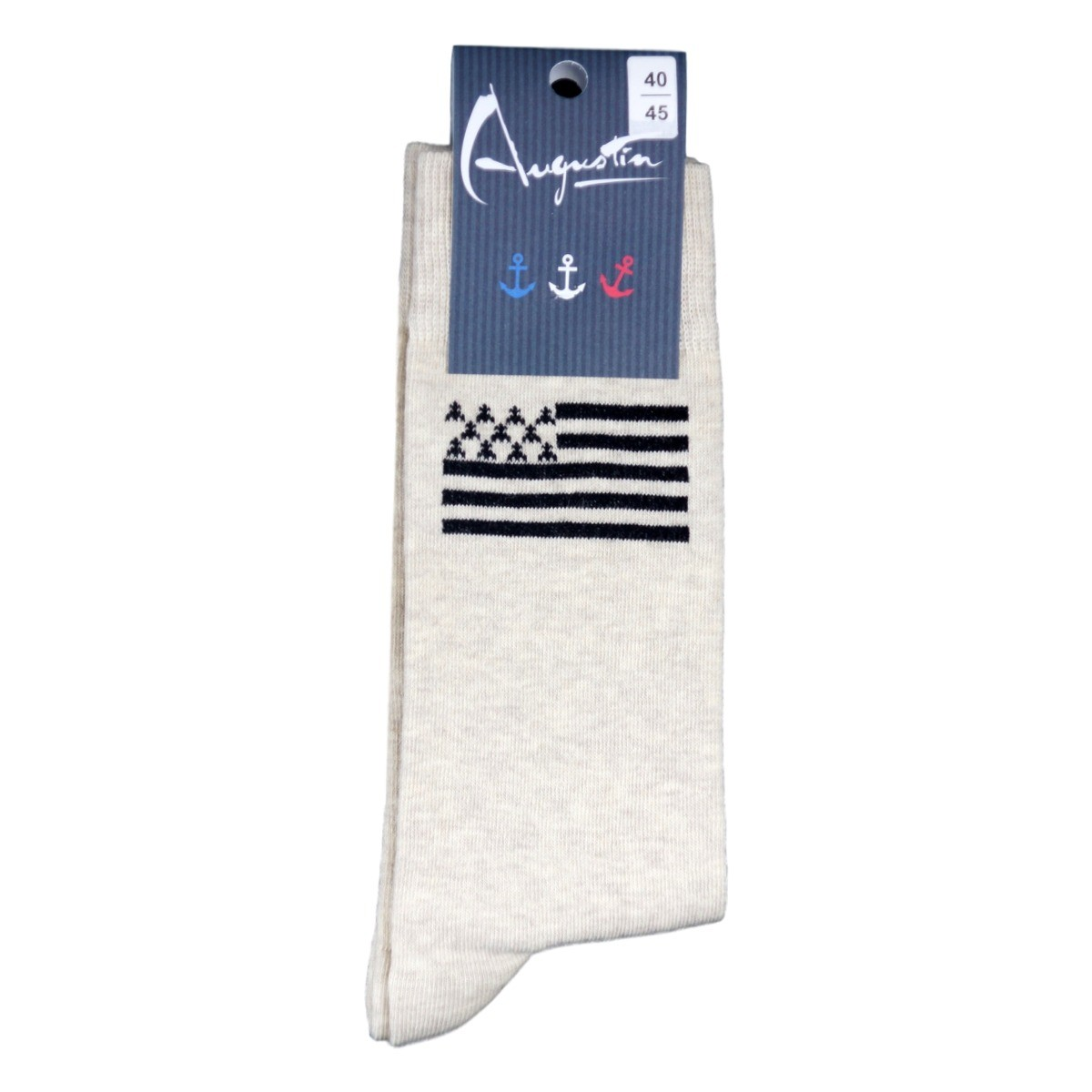 c37e6a5dc1f9 Chaussettes Drapeau Breton Gwenn Ha Du   Augustin vêtement marin
