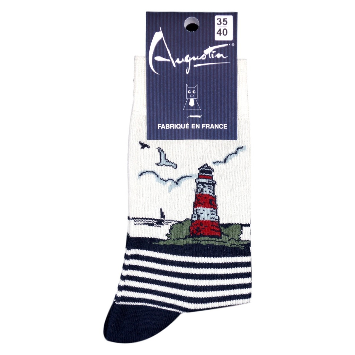 Chaussettes Phare Rayé