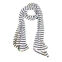 Crinkled striped scarve