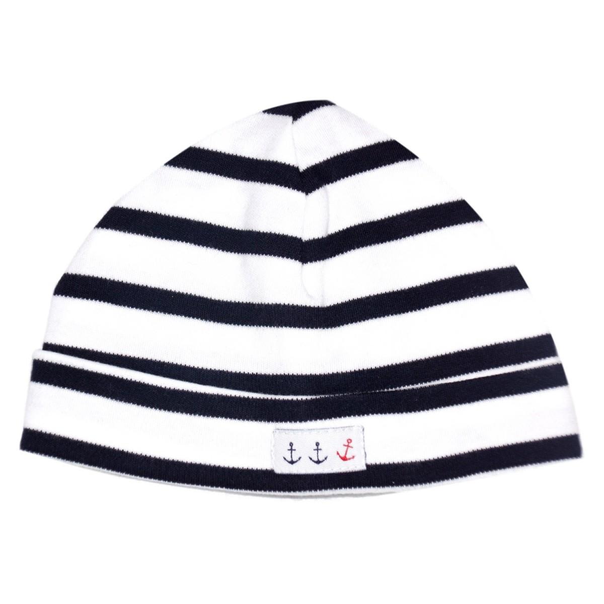 Striped beanie in Cotton