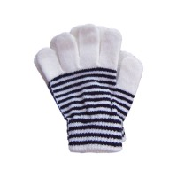 Striped gloves for child
