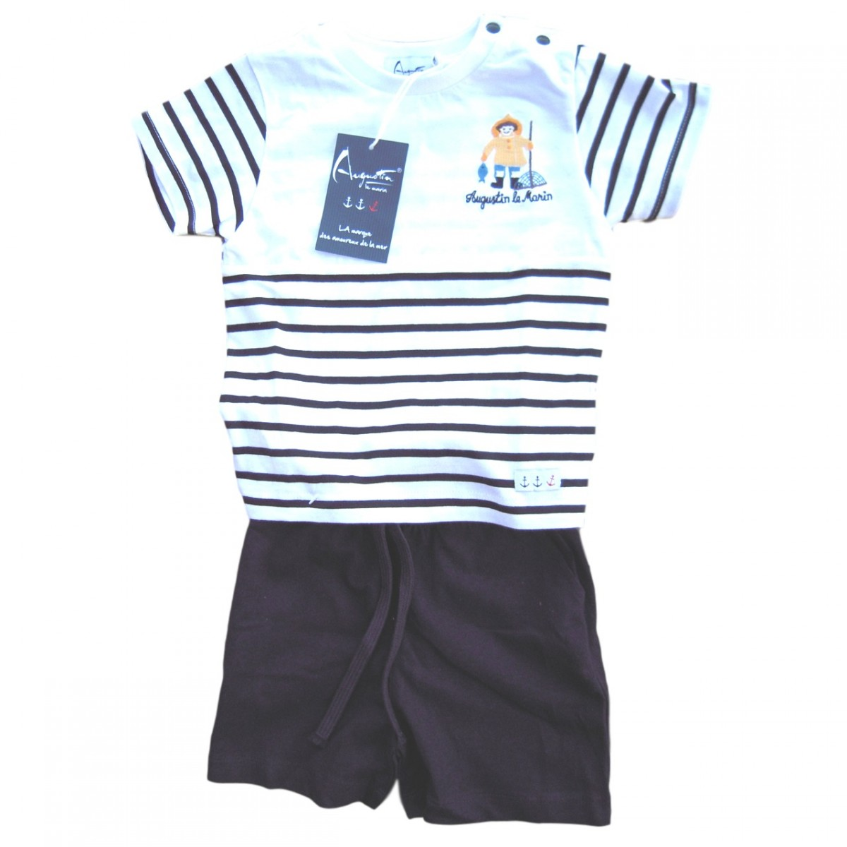 2f92738c9a5a Boys nautical T-shirt   Bermuda shorts outfit