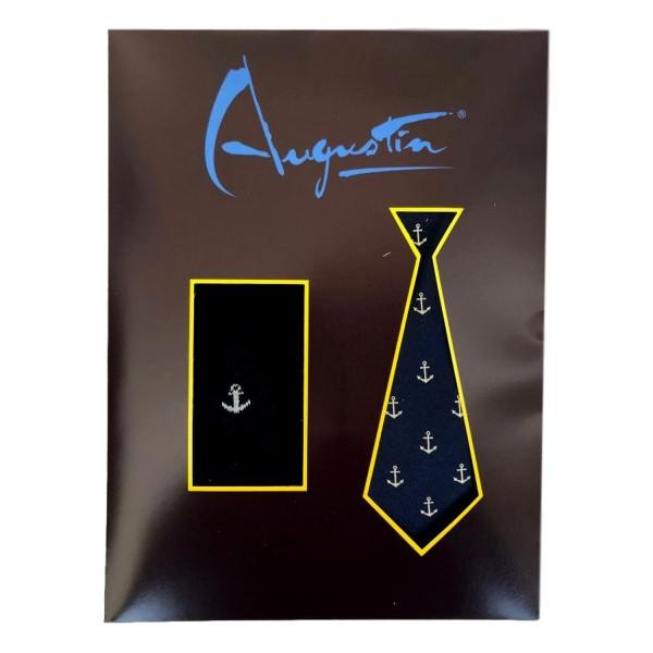 choisir le plus récent rechercher le dernier grosses soldes Coffret cravate & chaussettes Ancre marine