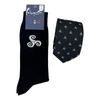 Juego de corbatas y calcetines Triskell