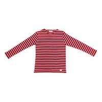 Rotes Marinehemd langärmelige, gestreifte