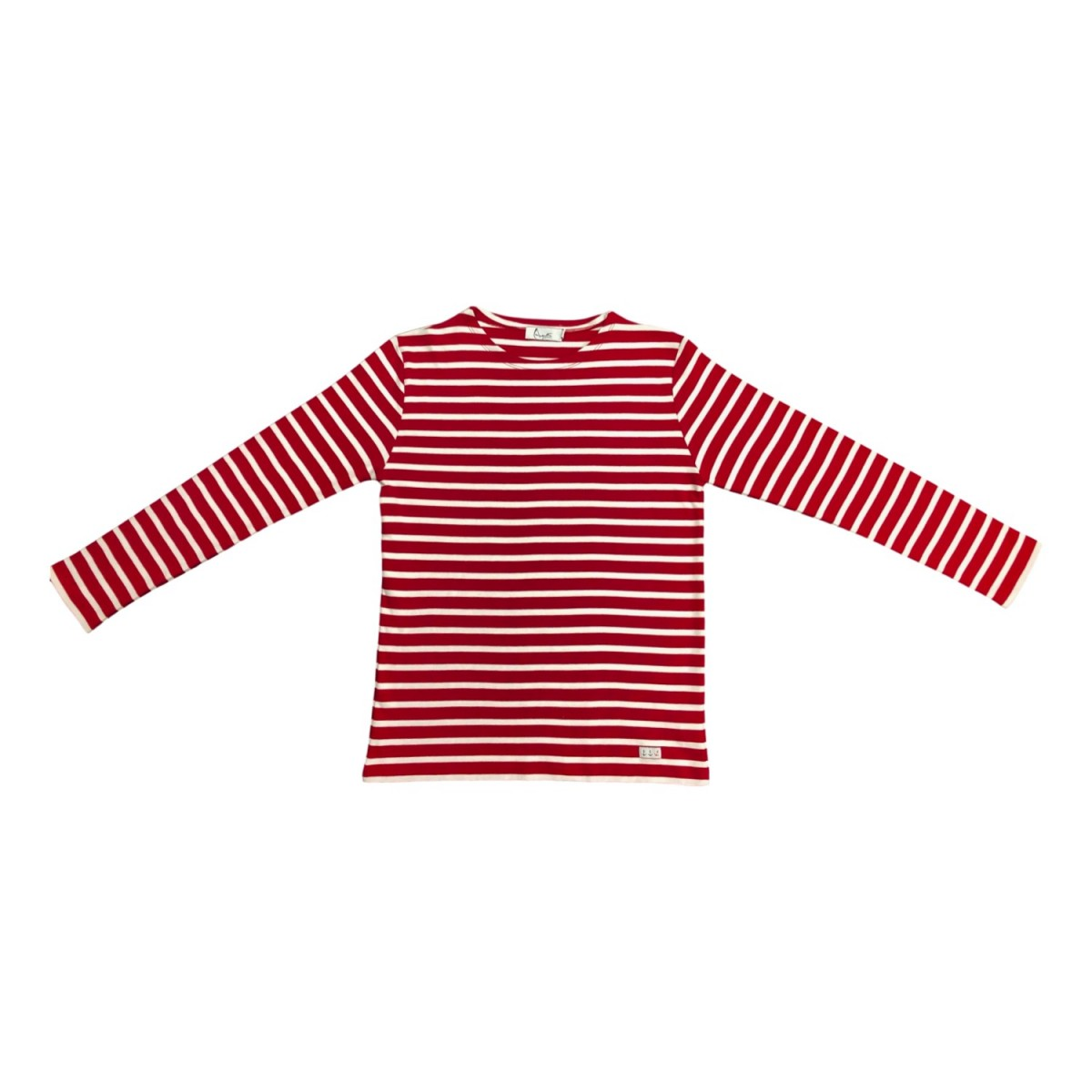 Red Breton Shirt with long sleeves