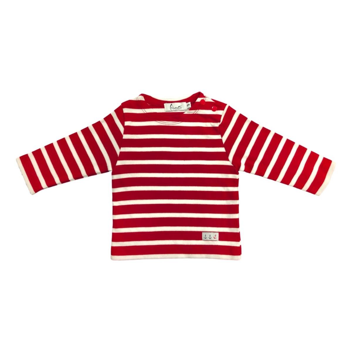 Breton Shirt long sleeves red color children