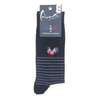 Socken mit Hahnmotiv