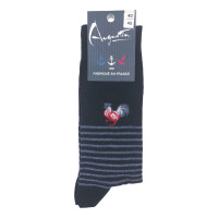 Socks with rooster pattern