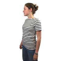 Marinehemd kurzärmelige, gestreifte, weiss/marine