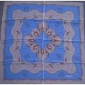 Silk square scarf nautical design