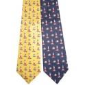 Cravate Phare et Voilier