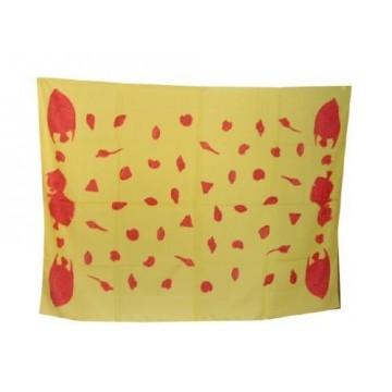 Paréos Poissons mono jaune