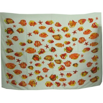 Fish sarong multicolored
