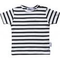 Children striped breton colour white/navy (short sleeves)