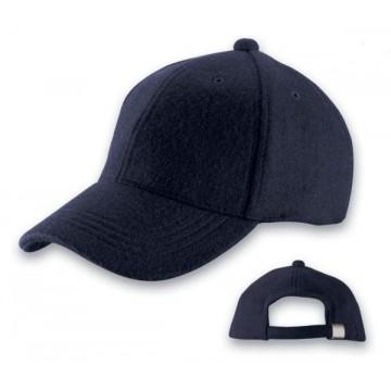 Baseball cap in wool