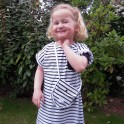 Striped dress for baby or girl