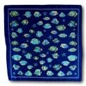 Bandana Poissons Bleu Royal