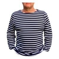 Marinehemd langärmelige, gestreifte